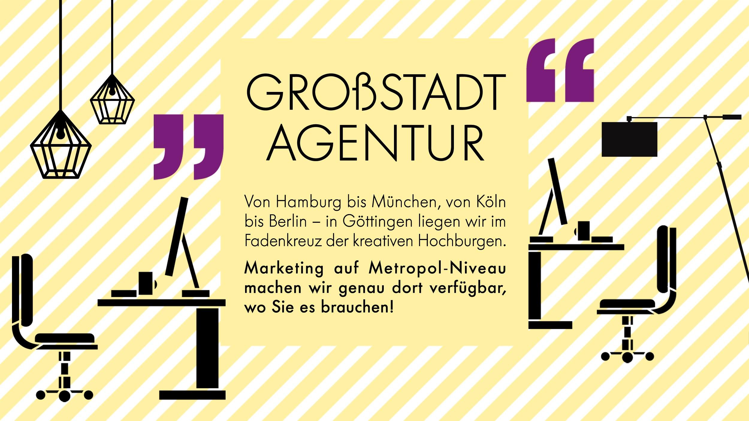 AMARETIS Agentur für Kommunikation Werbeagentur Göttingen Großstadt-Agentur Hamburg München Köln Berlin Fadenkreuz