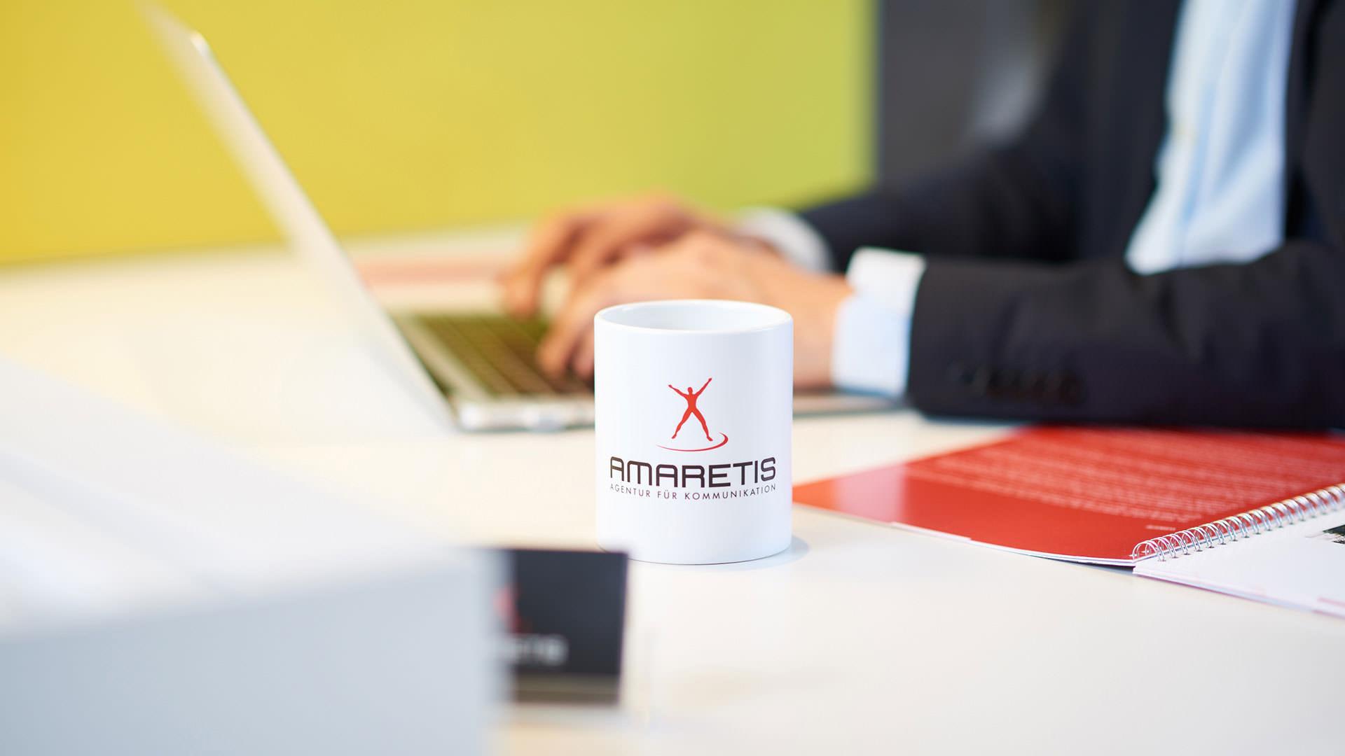 AMARETIS Agentur für Kommunikation Werbeagentur Göttingen bei der Arbeit