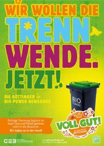 Amaretis Agentur für Kommunikation Werbeagentur Göttingen Blog Bioabfall-Kampagne Trennwende jetzt Göttinger Entsorgungsbetriebe GEB Plakat