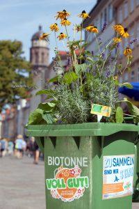 AMARETIS Agentur für Kommunikation Werbeagentur Bioabfall-Kampagne Blühende Tonnen Göttinger Entsorgungsbetriebe GEB Aktion Guerilla Gardening Weender Straße