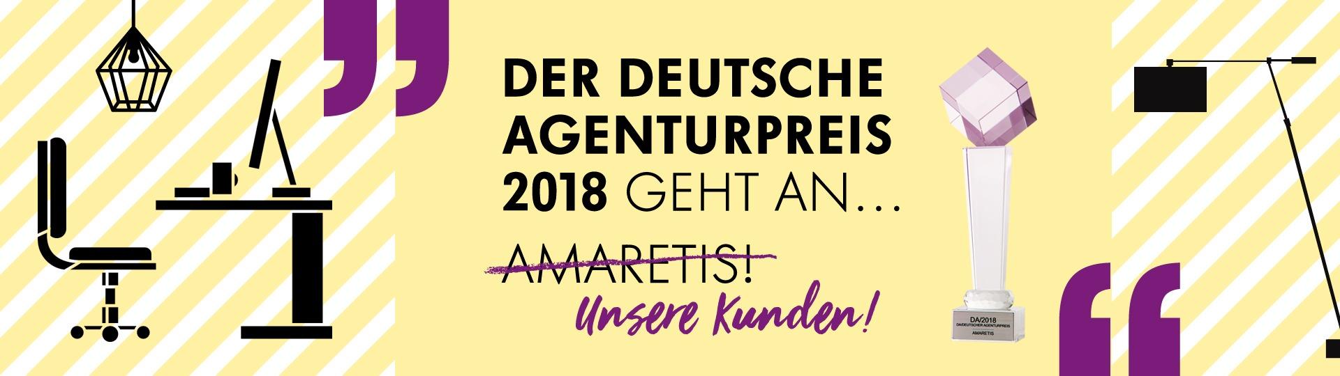 Amaretis Agentur für Kommunikation Werbeagentur Göttingen blog Deutsche Agenturpreis-Gewinner 2018